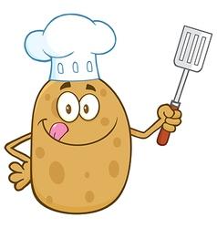 Chef Potato Cartoon vector image vector image