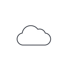 cloud weather thin line icon linear vector image vector image