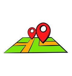 map icon cartoon vector image