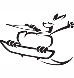 wakeboard roo vector image