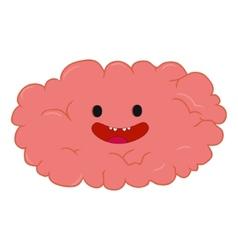 Colorful cartoon brain hand-drawn design print vector image vector image