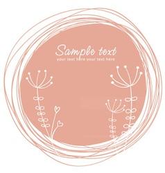 Cute sketch flower retro postcard vector image vector image