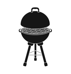 grill for barbecuebbq single icon in black style vector image vector image
