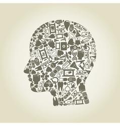 Head medicine vector image vector image