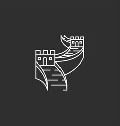 china landmark in outline style vector image