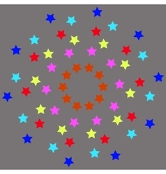 colored stars on gray background-01 vector image vector image