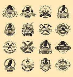 gentlemans vintage badges vector image vector image