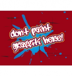 no graffiti vector image vector image