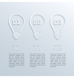 paper bulbs infographic vector image vector image