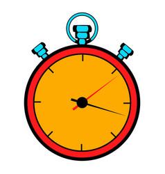 stopwatch icon cartoon vector image