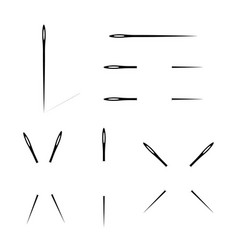 A selection of needles of different variant vector