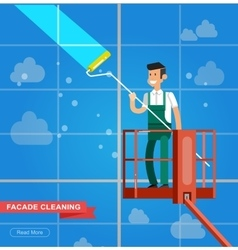 A window washer cleaner vector