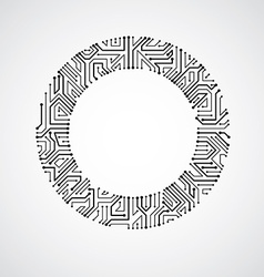 abstract computer circuit board monochrome vector image vector image
