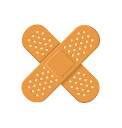Adhesive medical plasters bandage cross icon vector