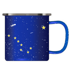 Alaskan tin cup vector