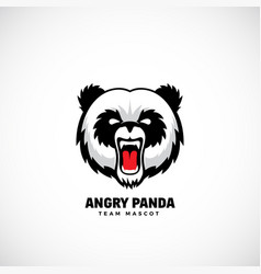 Angry panda abstract team mascot label or vector