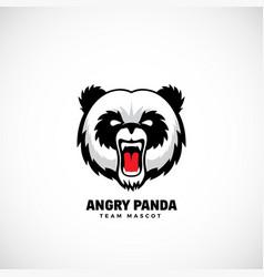 angry panda abstract team mascot label vector image