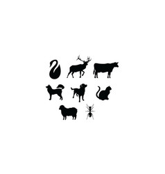 animal silhouette logo icon vector image