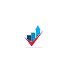 Arrow up graph business logo vector