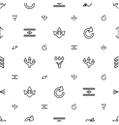 Arrows icons pattern seamless white background vector
