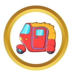 Auto rickshaw icon vector