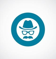 Barbershop icon bold blue circle border vector
