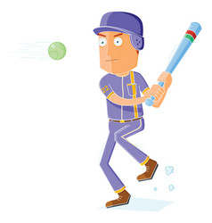 baseball player in action vector image