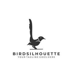 bird silhouette template vector image