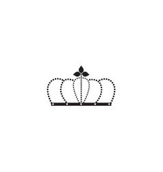 black arched crown silhouette queen or king vector image