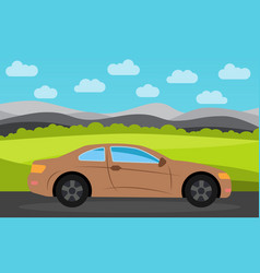 brown sports car vector image