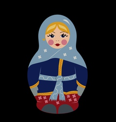 Bubushka doll in winter vector