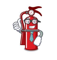 Businessman fire extinguisher character cartoon vector