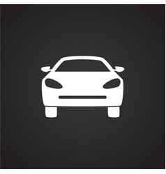 Car on black background vector
