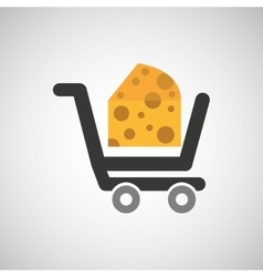 cart buy delicious cheese food vector image