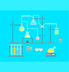 Cartoon chemical laboratory vector