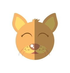 cat mascot cartoon isolated icon vector image