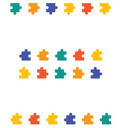 Colorful pattern with puzzles jigsaw children vector