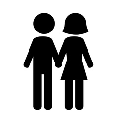 Couple in relationship pictogram design vector image