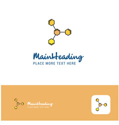 creative chemical bonding logo design flat color vector image