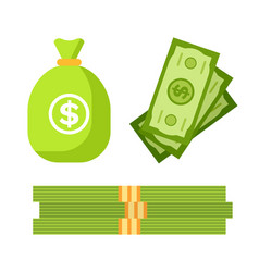 currency dollar banknotes and financial investment vector image