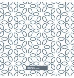Cute line flower pattern background vector
