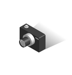 digital camera isometric isolated vector image