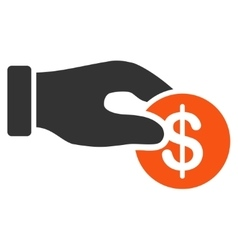 Donation icon from Business Bicolor Set vector image