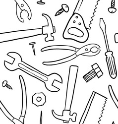 doodle tools pattern seamless vector image
