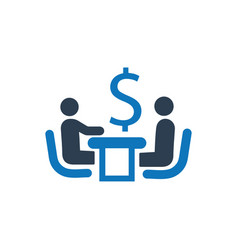 Financial discussion icon vector