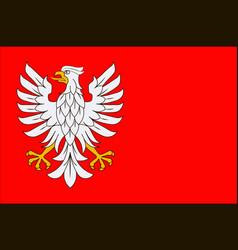 Flag of masovian voivodeship in eastern poland vector