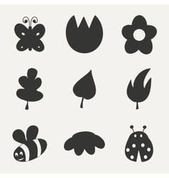 Flat in black and white concept mobile application vector image