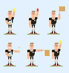 football referee character vector image