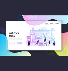 Front end development website landing page vector