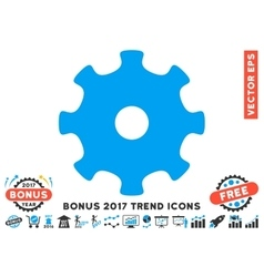 Gear Flat Icon With 2017 Bonus Trend vector